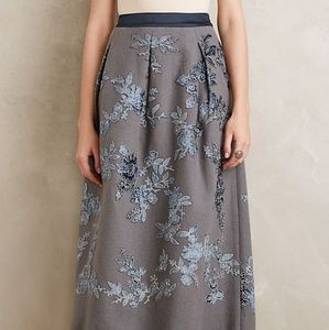 Anthropologie Not So Serious Amala Midi Skirt